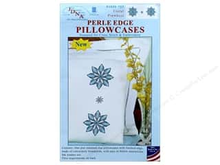 yarn & needlework: Jack Dempsey Pillowcase Perle Edge White Floral Pinwheel