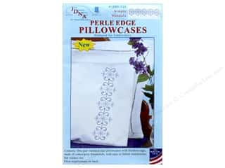 Jack Dempsey Pillowcase Perle Edge White Simple Mandala