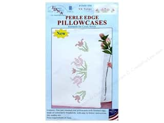 yarn & needlework: Jack Dempsey Pillowcase Perle Edge White XX Tulips