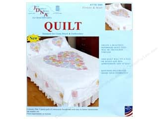 yarn & needlework: Jack Dempsey Quilt Full/Queen Flowers & Hearts