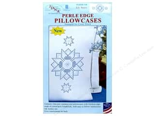 Jack Dempsey Pillowcase Perle Edge White XX Stars