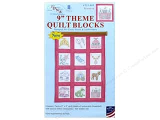 yarn & needlework: Jack Dempsey 9 in. Theme Quilt Blocks Princess 12 pc