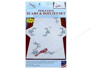 stamps: Jack Dempsey Scarf & Doily Set Perle Cardinals