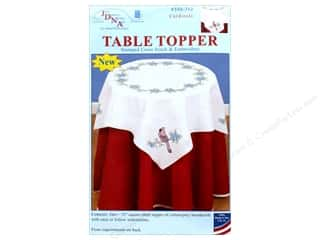 "Jack Dempsey Table Topper White 35"" Cardinals"