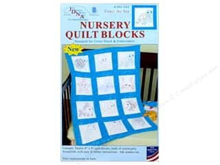 stamps: Jack Dempsey Nursery Quilt Block 12pc Under The Sea