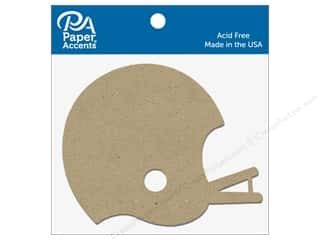 scrapbooking & paper crafts: Paper Accents Chipboard Shape Football Helmet 8 pc. Natural