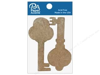 Paper Accents Chipboard Shape Keys 8 pc. Natural