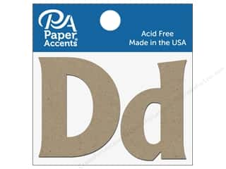 "scrapbooking & paper crafts: Paper Accents Chipboard Shape Letters ""Dd"" 2 in. 2 pc. Natural"