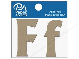 "Paper Accents Chipboard Shape Letters ""Ff"" 2 in. 2 pc. Natural"