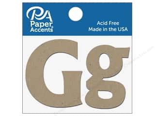"Paper Accents Chipboard Shape Letters ""Gg"" 2 in. 2 pc. Natural"