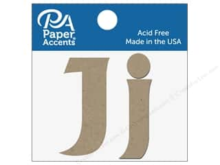 "Paper Accents Chipboard Shape Letters ""Jj"" 2 in. 2 pc. Natural"
