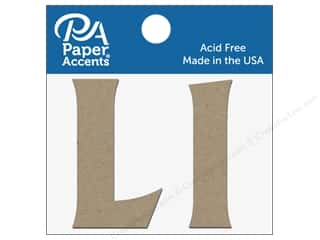 "Paper Accents Chipboard Shape Letters ""Ll"" 2 in. 2 pc. Natural"