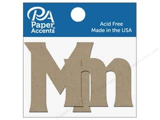 "Paper Accents Chipboard Shape Letters ""Mm"" 2 in. 2 pc. Natural"
