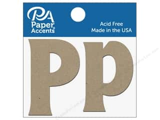 "scrapbooking & paper crafts: Paper Accents Chipboard Shape Letters ""Pp"" 2 in. 2 pc. Natural"