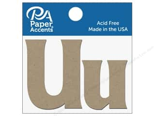 "die cuts: Paper Accents Chipboard Shape Letters ""Uu"" 2 in. 2 pc. Natural"