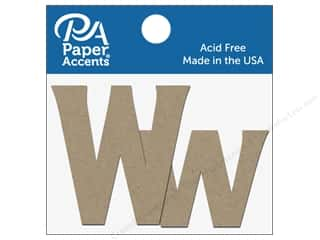 "die cuts: Paper Accents Chipboard Shape Letters ""Ww"" 2 in. 2 pc. Natural"
