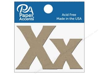 "die cuts: Paper Accents Chipboard Shape Letters ""Xx"" 2 in. 2 pc. Natural"