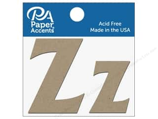 "die cuts: Paper Accents Chipboard Shape Letters ""Zz"" 2 in. 2 pc. Natural"