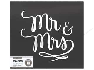 "K&Company Scrapbook Album 12""x 12"" Mr &  Mrs Wedding"