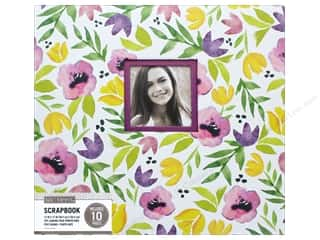 scrapbooking & paper crafts: K & Company 12 x 12 in. Scrapbook Window Album Purple Poppies Watercolor
