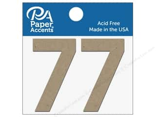 "Paper Accents Chipboard Shape Numbers ""7"" 2 in. 2 pc. Natural"