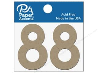 "die cuts: Paper Accents Chipboard Shape Numbers ""8"" 2 in. 2 pc Natural"