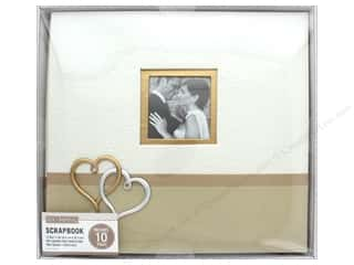 "K&Company Scrapbook Album 12""x 12"" Wedding Hearts Boxed"