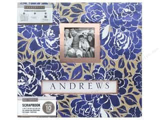 K & Company 12 x 12 in. Scrapbook Frame A Name Album Indigo Floral