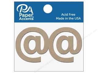 "die cuts: Paper Accents Chipboard Shape Punctuation ""@"" 2 in. 2 pc. Natural"