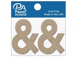 "scrapbooking & paper crafts: Paper Accents Chipboard Shape Punctuation ""&"" 2 in. 2 pc. Natural"