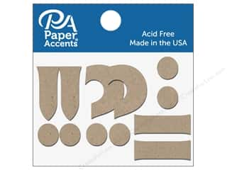 die cuts: Paper Accents Chipboard Shape Punctuation  !-.? 2 in. 8 pc. Natural