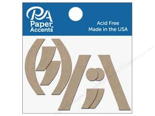 "Paper Accents Chipboard Punctuation ( ),./ "" 2 in. 10 pc.. Natural"