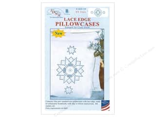 yarn & needlework: Jack Dempsey Pillowcase Lace Edge White XX Star