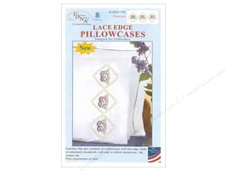 Jack Dempsey Pillowcase Lace Edge White Pansies