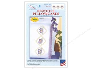 Jack Dempsey Pillowcase Hemstitched White Pansies