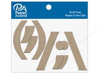 scrapbooking & paper crafts: Paper Accents Chipboard Punctuation (,)/""\  4 in. 2 pc. Natural320|240|?|29f07e8413c5d82176b4808ccb2abc21|False|UNLIKELY|0.3558128774166107