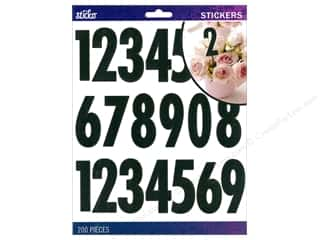 stickers: EK Sticko Stickers Numbers Extra Large Futura Regular Black