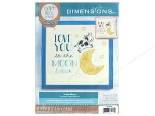 yarn & needlework: Dimensions Cross Stitch Kit 10 in. x 10 in. Cathy Heck To The Moon