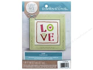 "Dimensions Embroidery Kit 5""x 5"" Cathy Heck Love"