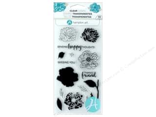 Hampton Art Stamp Clear Layer Flower Happy