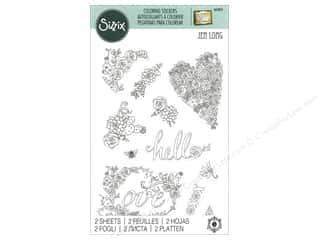 Clearance: Sizzix Sticker Jen Long In Bloom