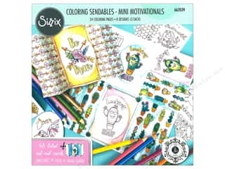 patterned paper: Sizzix Accessories Jen Long Coloring Sendables Mini Motivations