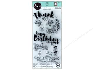 dies: Sizzix Stamp Jen Long Sentiments In Bloom