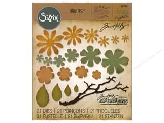 dies: Sizzix Dies Tim Holtz Thinlits Small Tattered Florals