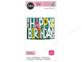 die cuts: Sizzix Dies Stephanie Barnard Framelits Card Drop-ins Happy Birthday
