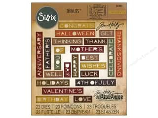 dies: Sizzix Dies Tim Holtz Thinlits Sentiment Words
