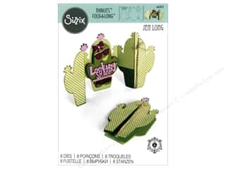 dies: Sizzix Dies Jen Long Thinlits Card Fold-A-Long Cactus