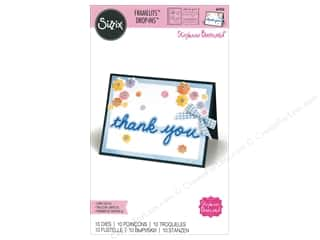 die cuts: Sizzix Dies Stephanie Barnard Framelits Card Drop-ins Horizontal