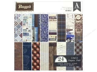 "stickers: Authentique Collection Rugged Paper Pad 12""x 12"""