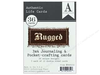 die cuts: Authentique Collection Rugged Life Card